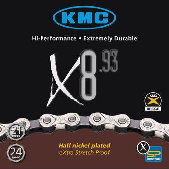 KMC X8 6/7/8-delt sykkelkjede Flerfarvet