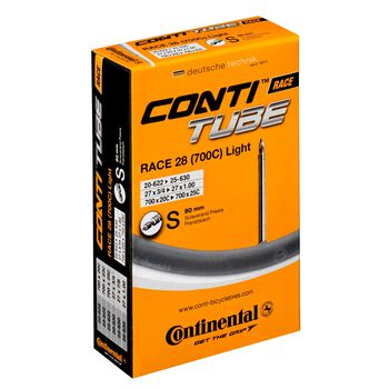 Continental 700C Light Presta 80 mm 18-25C sykkelslange Flerfarvet