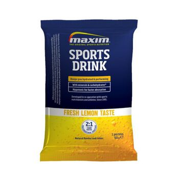 MAXIM Sports Drink Lemon Sachet Energidrikk Blå