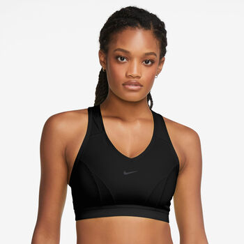 Nike Dri-FIT Swoosh Icon Clash sports-BH dame Svart