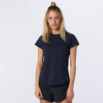New Balance Q Speed Fuel Jacquard SS t-skjorte dame  Blå