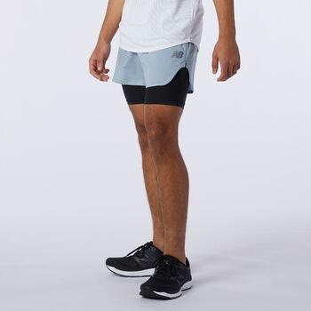 New Balance Q Speed Fuel 2 in 1 shorts herre Beige