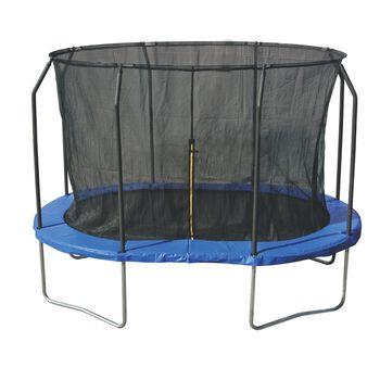 SUPERFLY Trampoline Oval 2,44 x 3,66m -  m/sikkerhetsnett Svart