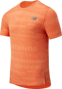 New Balance Q Speed Fuel Jacquard teknisk t-skjorte herre Rød