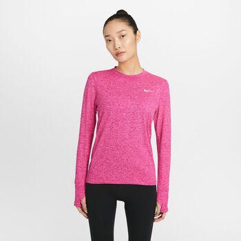 Nike Element Crew løpeoverdel dame Rød