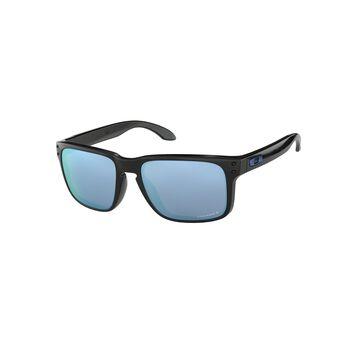 Oakley Holbrook Prizm™ Deep Water Polarized - Polished Black solbriller Herre Grå