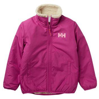 Helly Hansen K Reversible Pile Jacket vattert jakke barn Rosa