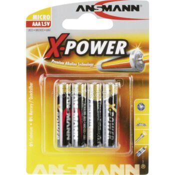 ANSMANN Xpower AAA batterier 4-pk Grå