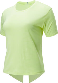 New Balance Q Speed Jacquard teknisk t-skjorte dame Gul