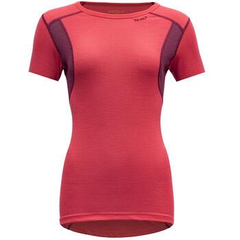 Devold Hiking ull t-skjorte dame Rød