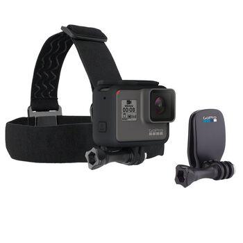 GoPro Head Strap + Quickclip Svart