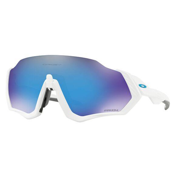 Flight Jacket Prizm Sapphire Matte White sportsbrille