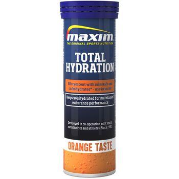 MAXIM Total Hydration Orange væskeerstatningstabletter Svart
