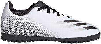 adidas X Ghosted.4 Turf fotballsko grus/kunstgress junior Hvit