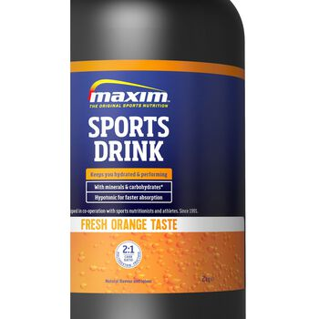 MAXIM Sports Drink 2 kg Orange energidrikk Blå