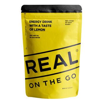 REAL turmat OTG Energy drink sitron 30 gram Gul