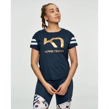 KARI TRAA Vilde t-skjorte dame Blå