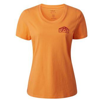 Rab Stance Hex t-skjorte dame Oransje