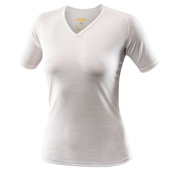 Devold Breeze V-Neck ull t-skjorte dame Hvit