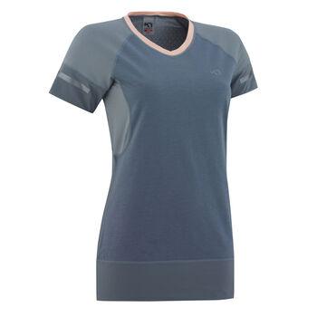 KARI TRAA Sigrun teknisk t-skjorte dame Blå