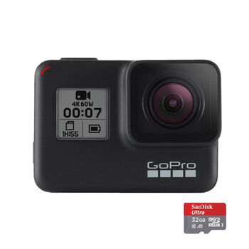 GoPro Hero 7 Black Bundle actionkamera m/ minnekort Svart