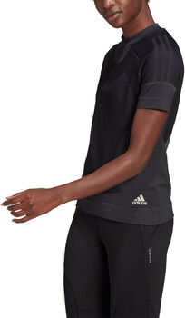 adidas Primeknit teknisk t-skjorte dame Svart