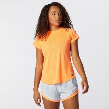 New Balance Q Speed Fuel Jacquard SS t-skjorte dame  Oransje