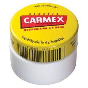 Carmex krukke leppepomade Gul