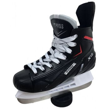 PROS X 1.0 hockeyskøyter junior og senior Herre Svart