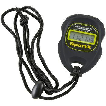 SportX  Basis stoppeklokke Svart