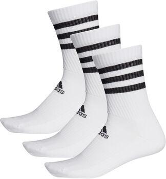 adidas 3-Stripes 3-pk tennissokk Herre Hvit