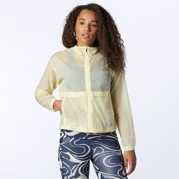 New Balance Impact Run Light Pack Jacket løpejakke dame Gul