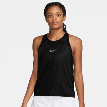 Nike Miler Run Division treningssinglet dame Svart