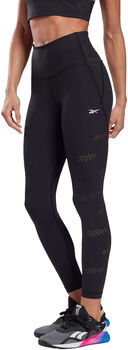 Reebok Lux Perform HR Perforated tights dame Svart