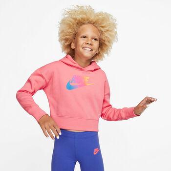 Nike NSW Cropped hettegenser junior Jente Rød