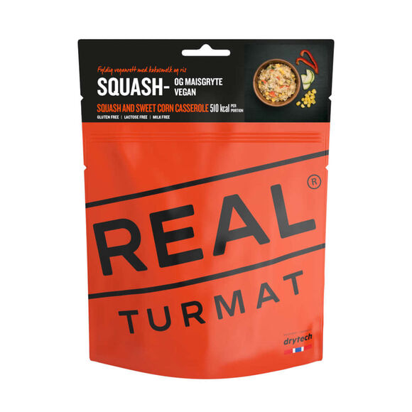 Squash og maisgryte turmat