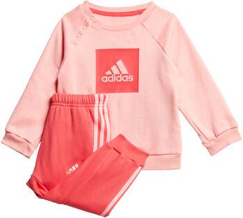 adidas 3-Stripes Logo joggedress barn Jente Rød