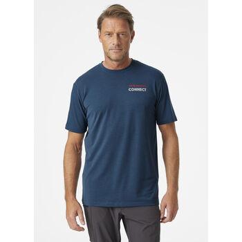 Helly Hansen Skog Recycled Graphic t-skjorte herre  Blå