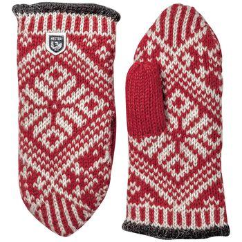 Hestra Nordic Wool vott dame Herre Rød