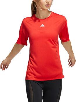 adidas Training 3-Stripes AEROREADY t-skjorte dame Rød