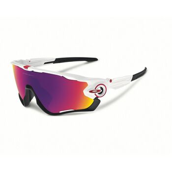Oakley Jawbreaker Prizm™ Road - Polished White Herre Grønn