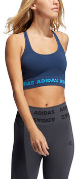 adidas Training Aeroknit sports-BH dame Blå