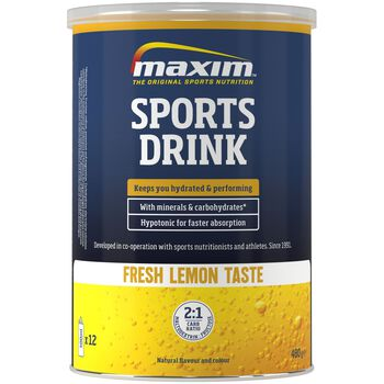 MAXIM Sports Drink 480 g Lemon energidrikk Blå