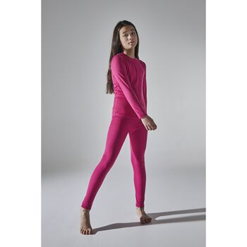 Craft Core Warm Baselayer superundertøy sett barn Rosa