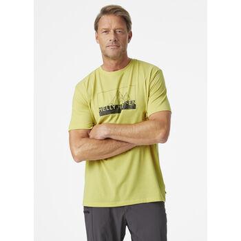 Helly Hansen Skog Recycled Graphic t-skjorte herre  Gul
