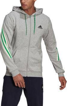 adidas 3-Stripes Tape Full-Zip hettejakke herre Grå