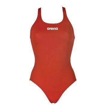Arena Solid Swim Pro badedrakt dame Rød