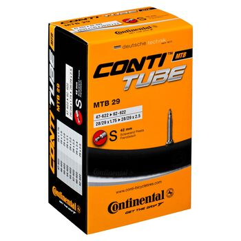 Continental 29 Presta 42 mm 1.75-2.5 sykkelslange Svart