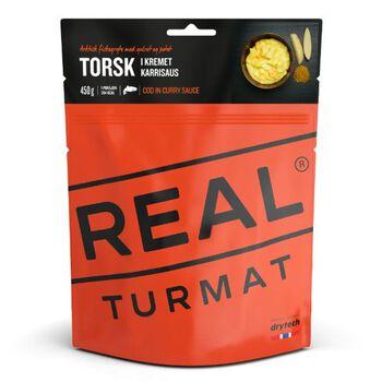 REAL turmat Torsk i kremet karrisaus 460 gram Oransje