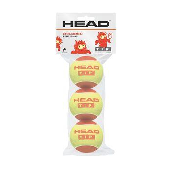 Head Tip Red tennisballer junior 3-pk Gul